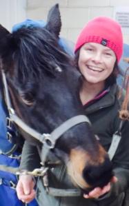 Amanda with Dobbie, a Connemara she rides every week